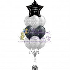 1 Foil & 9 Latex Balloon Arrangement