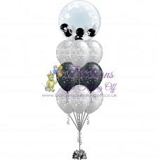Gumball Bubble & 9 Latex Balloon Arrangement