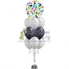 Confetti Bubble & 9 Latex Balloon Arrangement