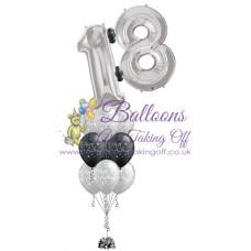 Double Number & 9 Latex Balloon Arrangement