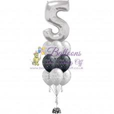 1 Number & 9 Latex Balloon Arrangement