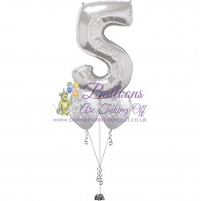 1 Number & 2 Latex Balloon Arrangement