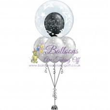 Double Bubble & 3 Latex Balloon Arrangement