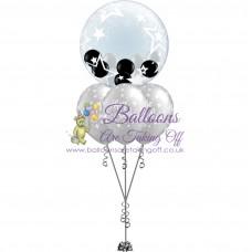Gumball Bubble & 3 Latex Balloon Arrangement
