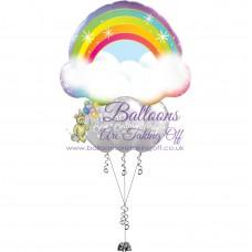 Supershape & 3 Latex Balloon Arrangement