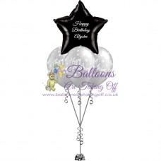 1 Foil & 3 Latex Balloon Arrangement