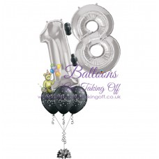 Double Number & 3 Latex Balloon Arrangement