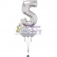 Single Number & 3 Latex Balloon Arrangement