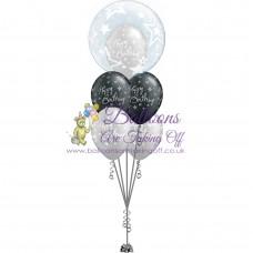 Double Bubble & 4 Latex Balloon Arrangement