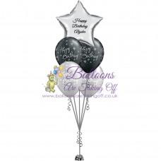 1 Foil & 4 Latex Balloon Arrangement
