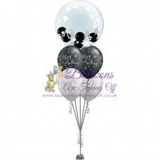 Gumball Bubble & 4 Latex Balloon Arrangement
