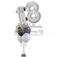 Double Number & 4 Latex Balloon Arrangement