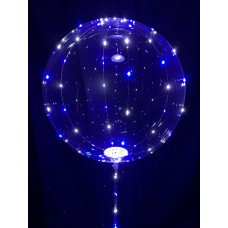 """15"""" Air Filled LED Balloon on Wand"""