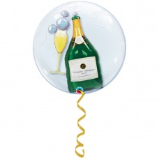 "24"" Helium Filled Double Bubble Balloon"
