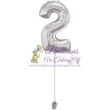 "34"" Helium Filled Number Foil Balloons"