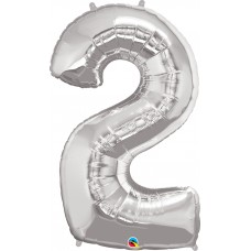 """34"""" Flat Number Foil Balloons"""