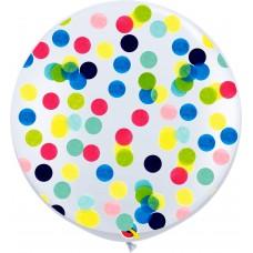 "36"" Flat Confetti Latex Balloons"