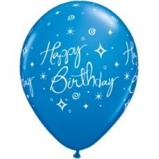 "11"" Flat Pre-Printed Latex Balloons"