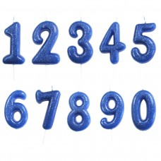 Blue Single Number Candles
