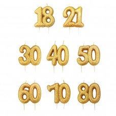Gold Double Number Candles