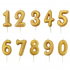Gold Single Number Candles