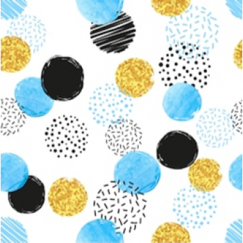 Blue Gold Circles