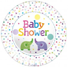 Baby Shower Elephant Plates