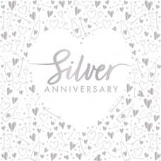 Silver Anniversary Napkins