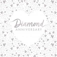 Diamond Anniversary Napkins