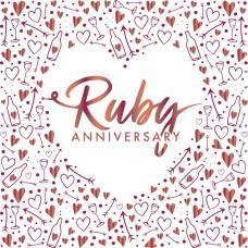 Ruby Anniversary Napkins