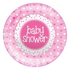 Baby Shower Pink Plates