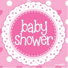 Baby Shower Pink Lunch Napkins