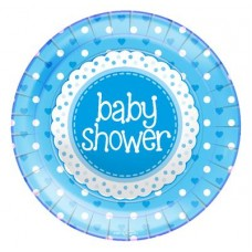 Baby Shower Blue Plates