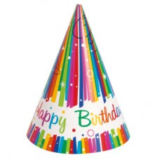 Rainbow Ribbons Party Hat Birthday
