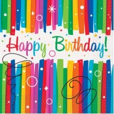 Rainbow Ribbons Napkins Birthday