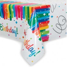 Rainbow Ribbons Table Cover