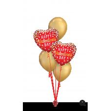2 Foil & 3 Latex Valentine's Arrangement