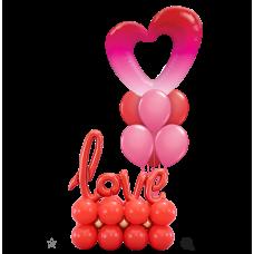 Ombre Heart & 6 Latex Balloon Love Platform